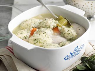 Chicken and Leeks with Parsley Dumplings