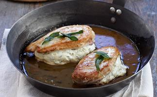 Chicken Breasts with Herbed Fetta Pockets