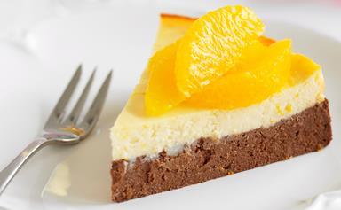 Chocolate and orange baked ricotta cake