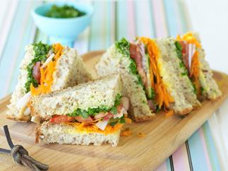 Coriander salsa sandwiches