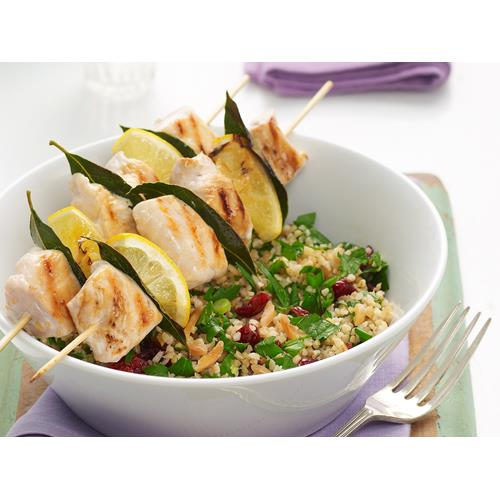 Grilled Chicken Skewers With Cranberry And Lemon Burghul Recipe Food To Love