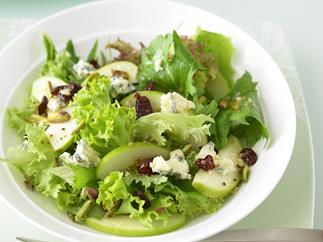 Green Apple, Blue Cheese, Cranberry and Pistachio Salad