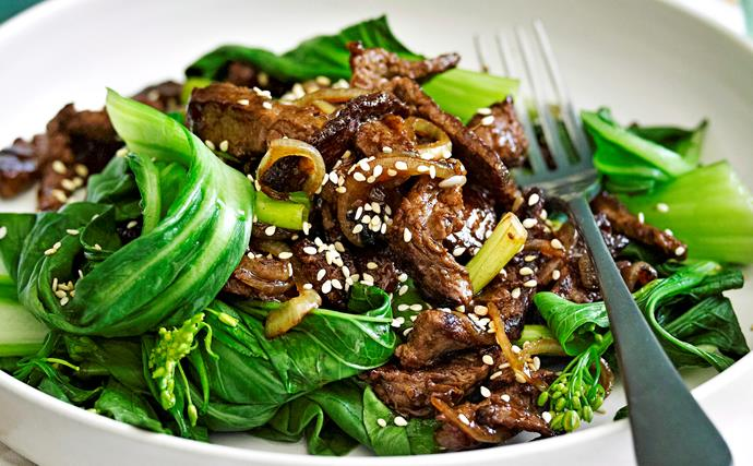 Beef and ginger stir-fry