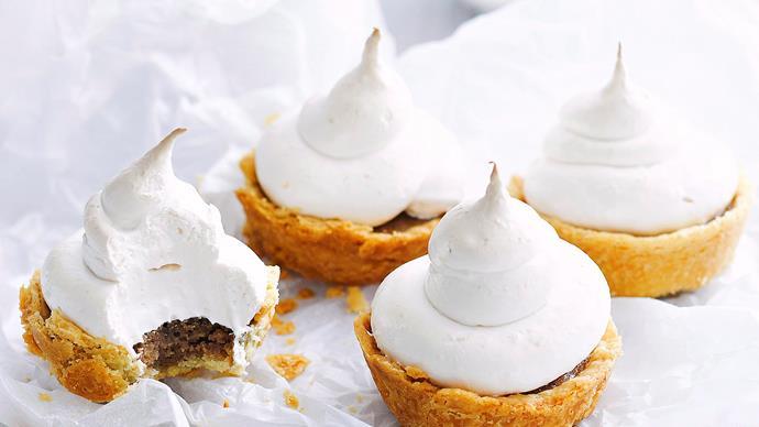 Chestnut meringue tarts