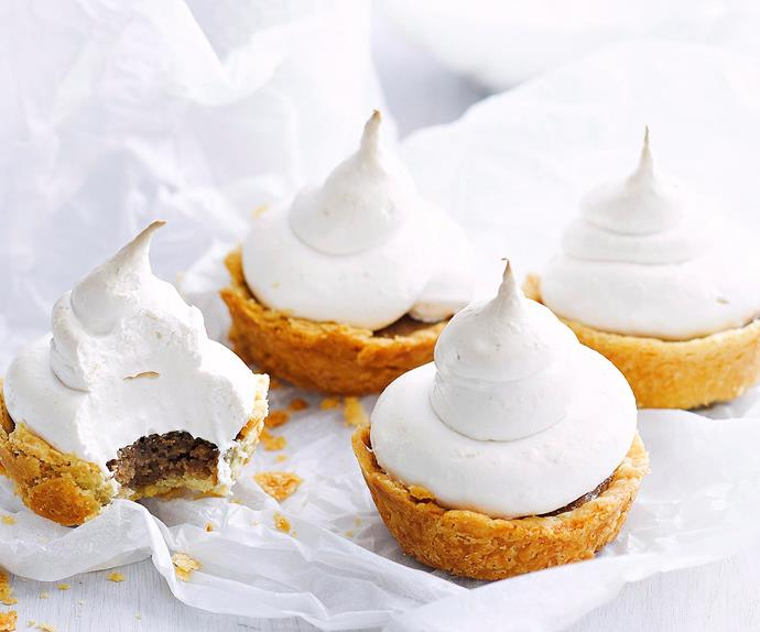 Chestnut meringue tarts