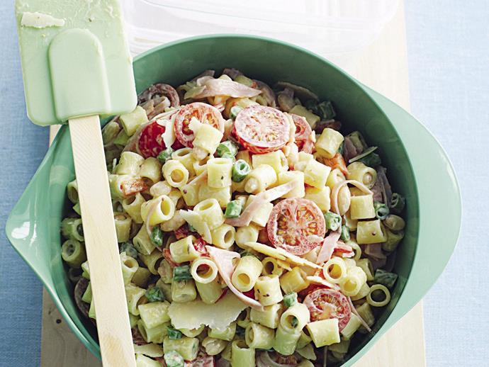 "**[Lunch box pasta salad](https://www.womensweeklyfood.com.au/recipes/lunch-box-pasta-salad-28134|target=""_blank"")**  This great pasta salad is brilliant as a lunch for work or school, but you can also serve it as a side dish to grilled or barbecued meats."