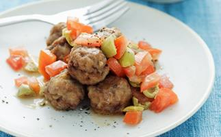 MEATBALLS WITH TOMATO AND GREEN OLIVE SAUCE