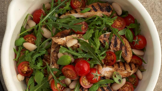 Balsamic chicken and cannellini bean salad