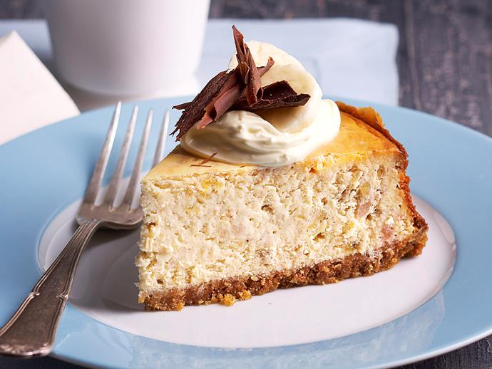 "**[Banana cheesecake](https://www.womensweeklyfood.com.au/recipes/banana-cheesecake-22996|target=""_blank"")**"