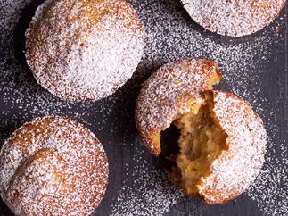 Banana maple muffins
