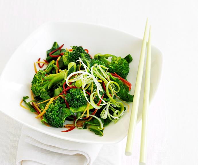Broccoli and chilli stir-fry