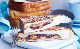 Chocolate and banana French toasties