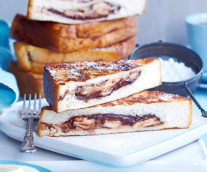Chocolate and banana French toasties