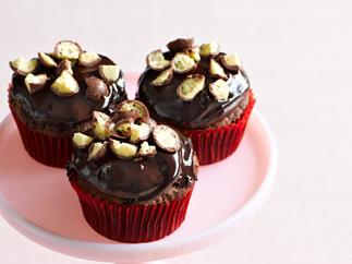 Chocolate cupcakes with ganache and Maltesers