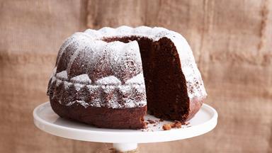Chocolate hazelnut sour cream cake