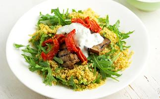 Couscous and antipasto salad