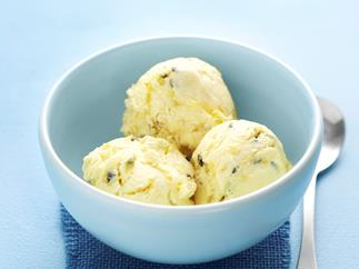 Easy passionfruit ice-cream