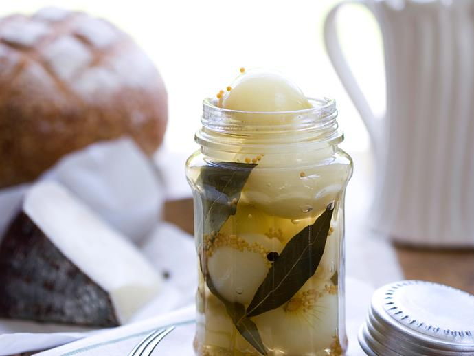"""If you're feeling confident, you can play around with this excellent [pickled onion](https://www.womensweeklyfood.com.au/recipes/pickled-onions-22789 target=""""_blank"""") recipe; malt vinegar will give you golden onions, balsamic a deep, delicious brown."""