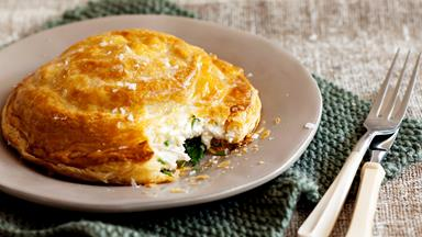 Chicken, lemon thyme and mascarpone pithiviers
