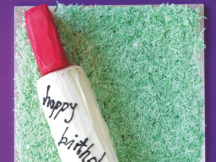"""[Cricket bat and ball cake](http://www.foodtolove.com.au/recipes/cricket-bat-and-ball-cake-9897