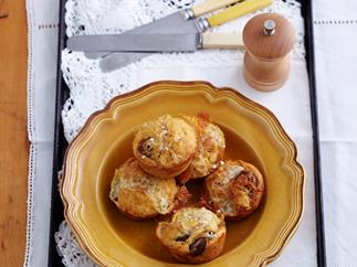 Beef sausage and beer muffins