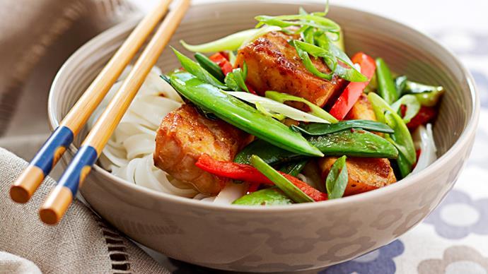 korean fish stir-fry