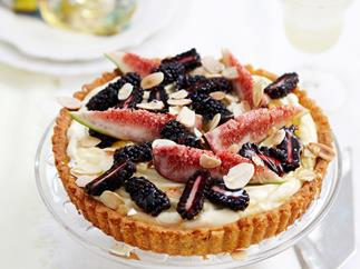 Almond and mascarpone fig flan