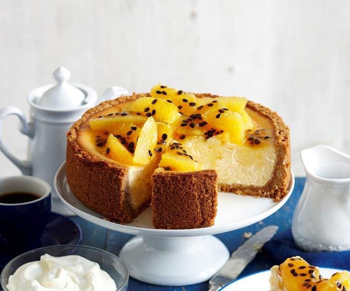 Baked Orange And Passionfruit Cheesecake Australian