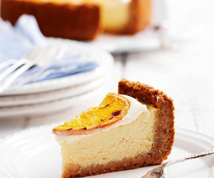 Baked yoghurt orange cheesecake