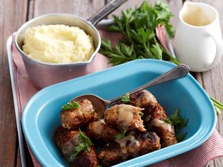 Chevrup Sausages with Mash