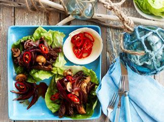 Korean Beef and mushrooms