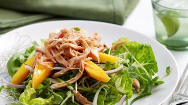 Mango chicken thai salad