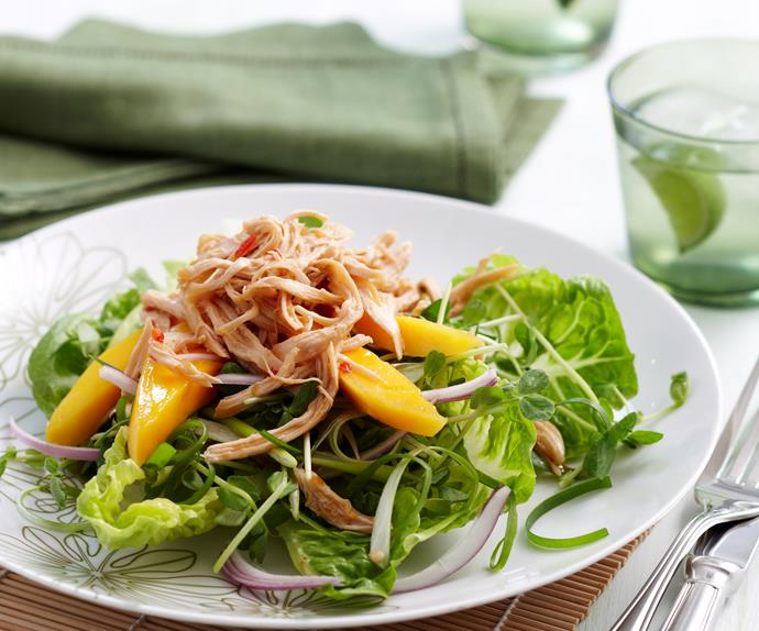 Mango chicken Thai salad