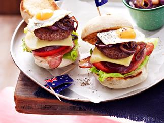Mini Aussie burgers with the lot