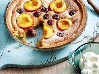 Nectarine and cherry tart
