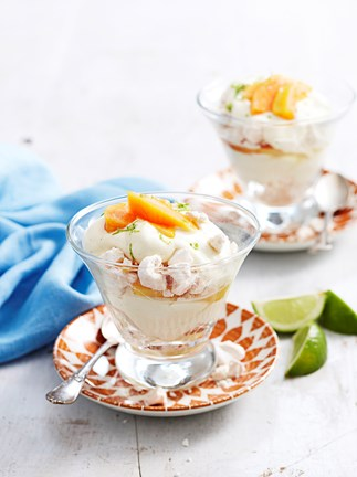 Papaya and lemongrass trifles
