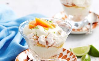 Papaya and lemongrass trifles