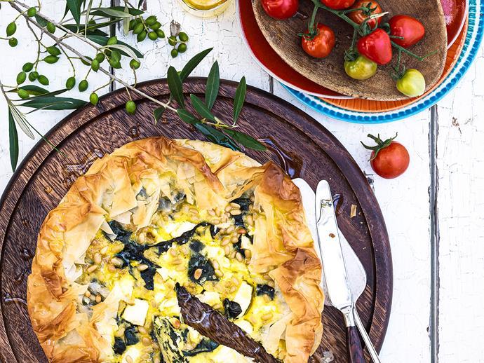 "**[Spanakopita](https://www.womensweeklyfood.com.au/recipes/spanakopita-25057|target=""_blank"")**"