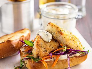 Lemon pepper fish burgers