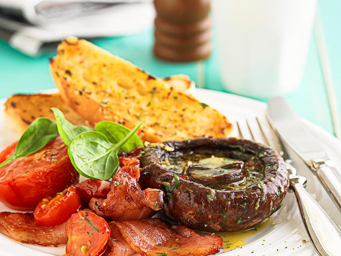 """**[Lemon, chilli and garlic butter breakfast tray bake](https://www.womensweeklyfood.com.au/recipes/lemon-chilli-and-garlic-butter-breakfast-tray-bake-25402