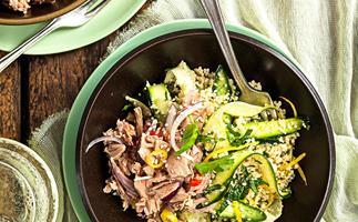 Lemon tuna couscous salad