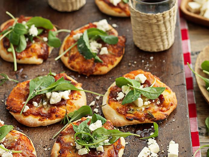 """**[Mini pizzetta](https://www.womensweeklyfood.com.au/recipes/mini-pizzetta-25799