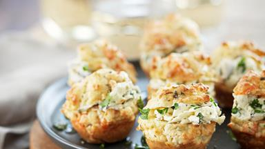 Smoked salmon muffins with cream cheese filling