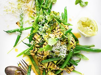 Courgette and coriander salad