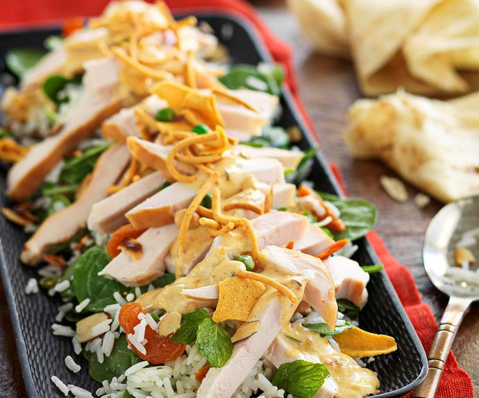 Smoked Chicken Rice Salad With Curried Mango Dressing