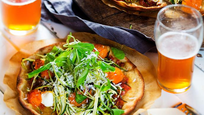 Twisted vege pizza