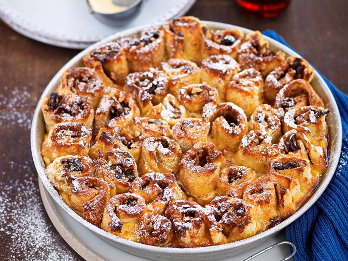 """**[Sticky date and cinnamon bread and butter pudding](https://www.womensweeklyfood.com.au/recipes/sticky-date-and-cinnamon-bread-and-butter-pudding-26850