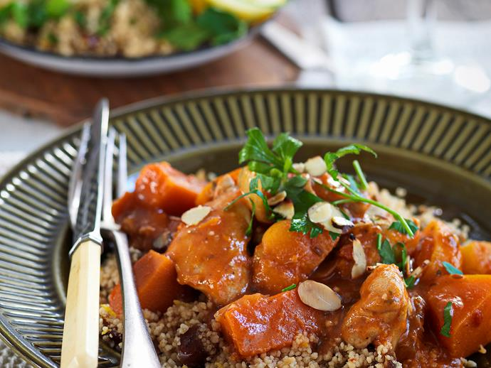 "**[Chicken, pumpkin and apricot tagine](https://www.womensweeklyfood.com.au/recipes/chicken-pumpkin-and-apricot-tagine-26825|target=""_blank"")**  An aromatic tagine will put warmth into any winter night."