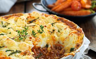 Minted lamb potato-top bake