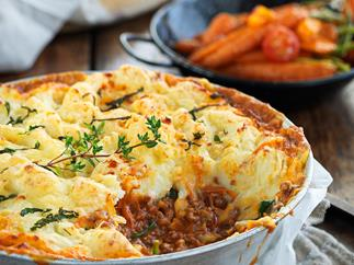 Minted lamb potato-top bake